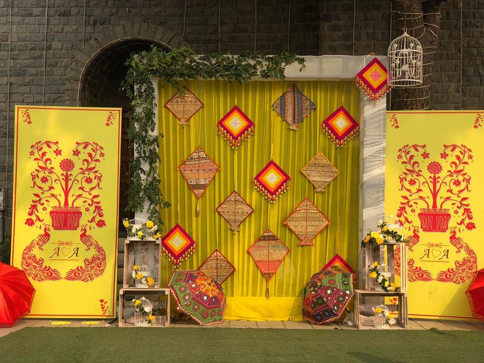 colorful wedding theme design