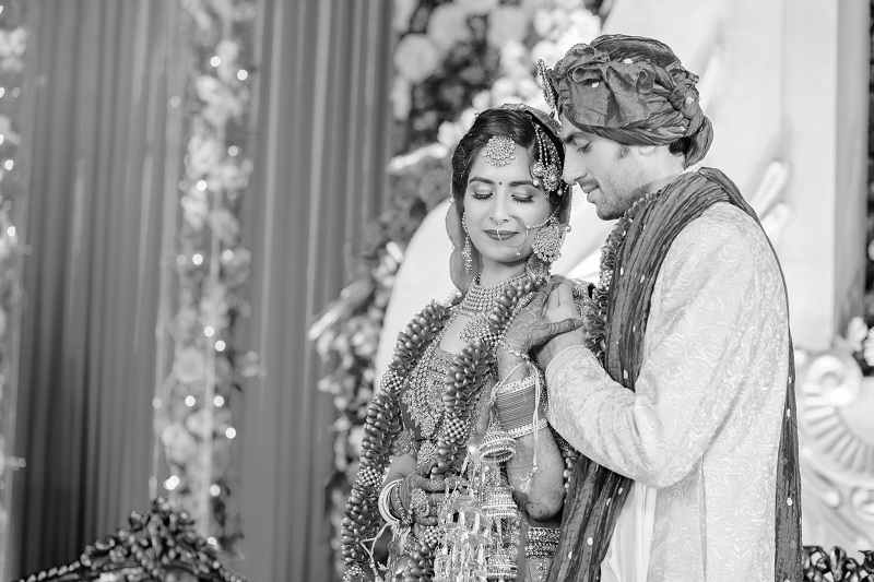 Black and White Couple Photography