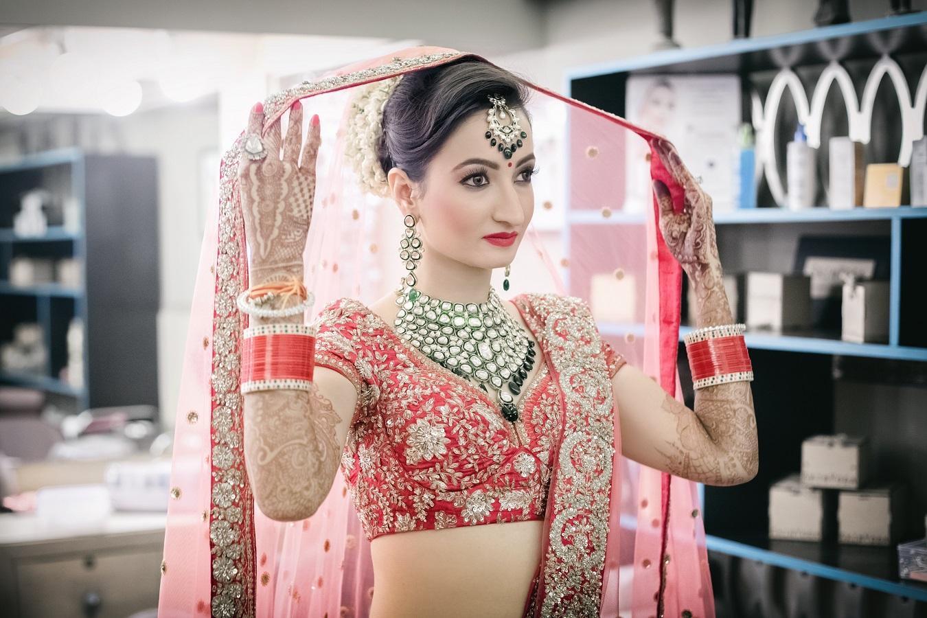 Bride under Veil Poses