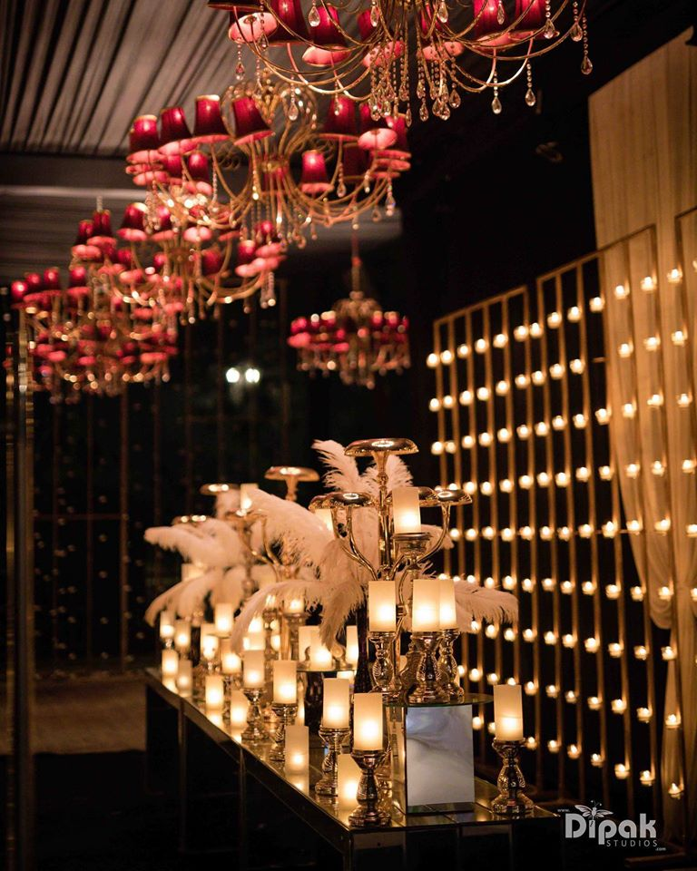decorative lights for hall with candles