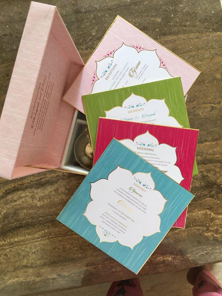 Colorful Personalized Wedding Invite