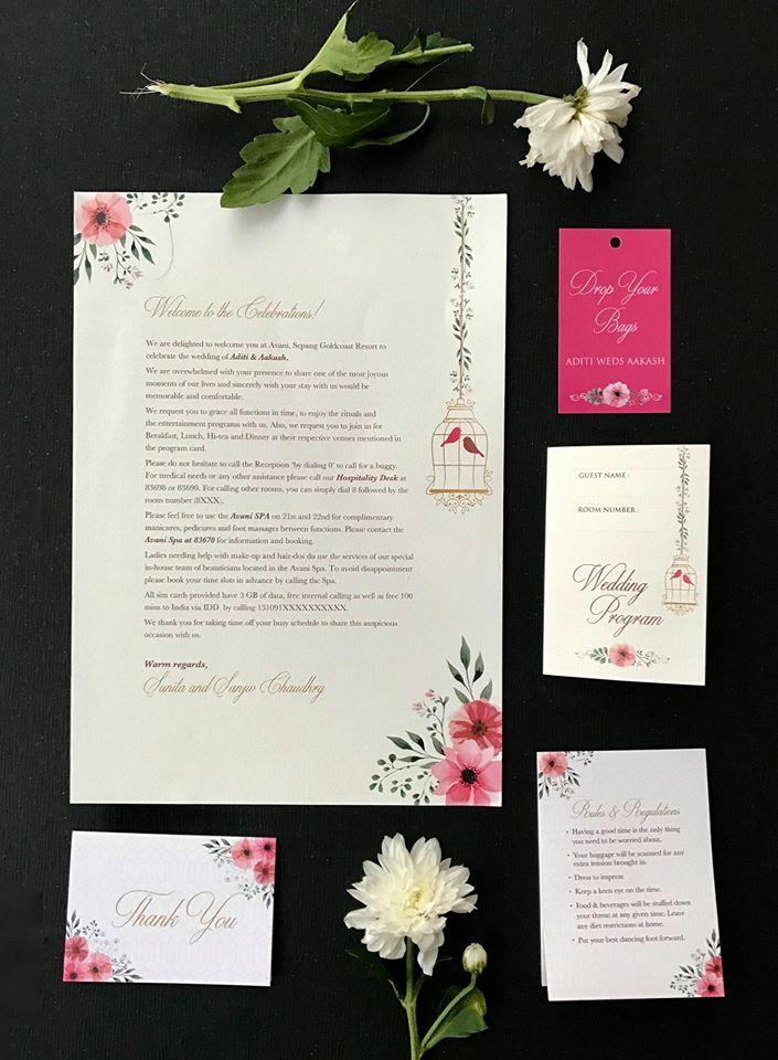 Graphic Printed Wedding Invitation Card
