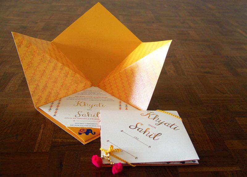 Origami Inspired Wedding Card Design