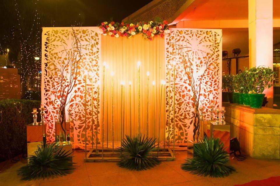 Wedding Photobooth Idea with Floral Decor