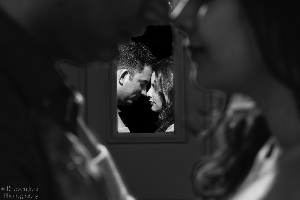 wedding couple photography in black and white