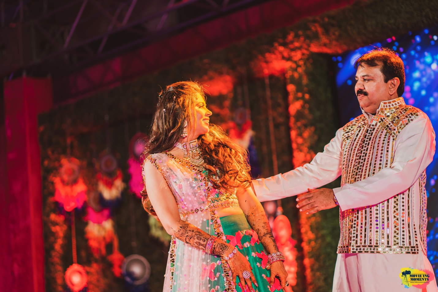 Bride and father sangeet dance