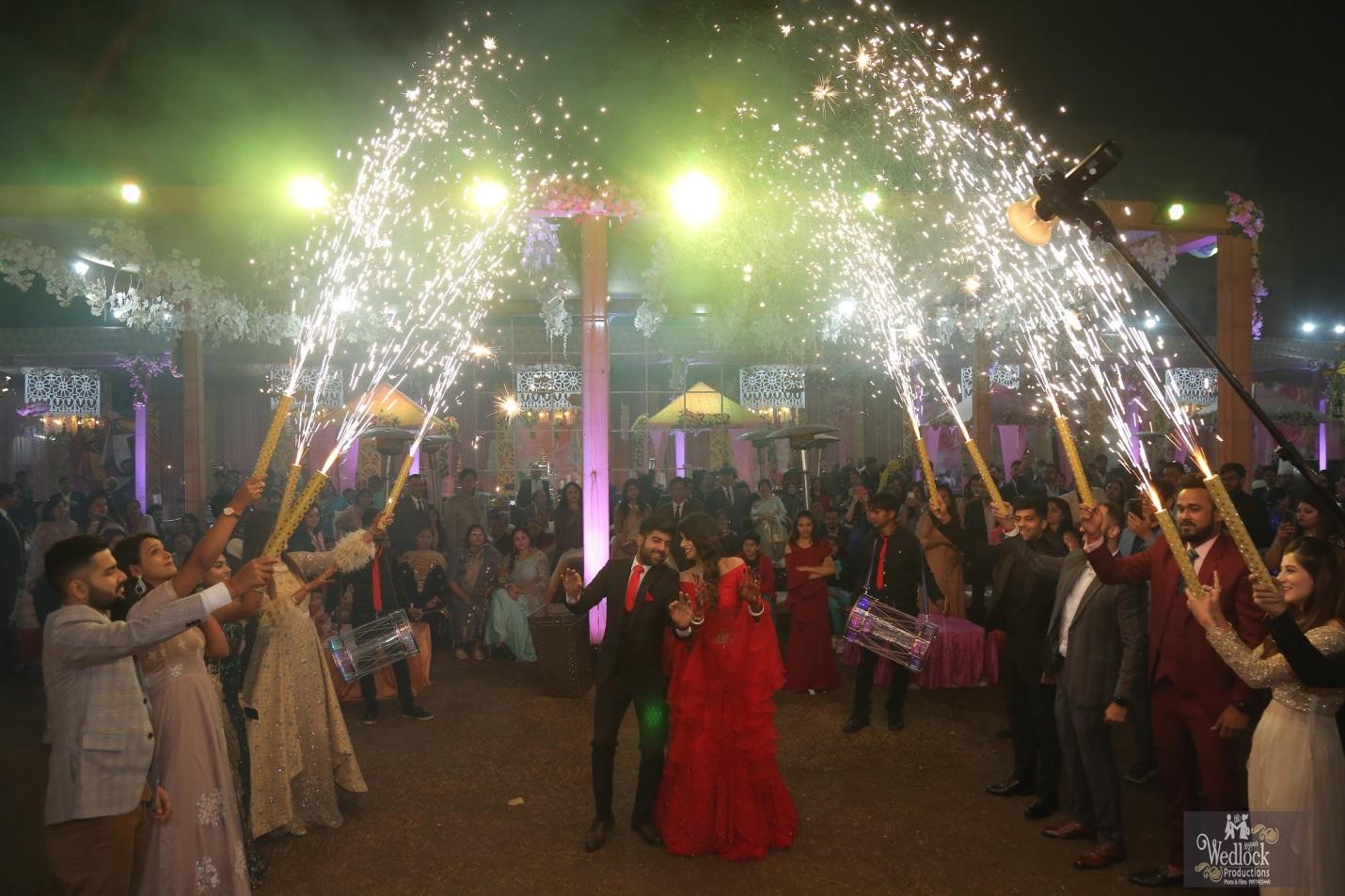 Bride and groom dance performance