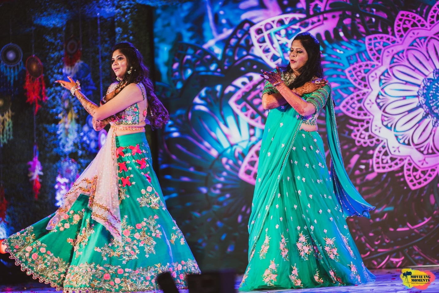 Bride and mother sangeet dance