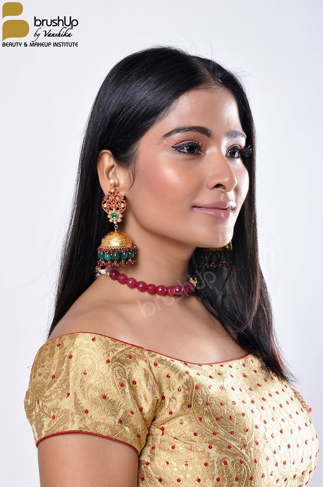 Jhumka types with Indian attire