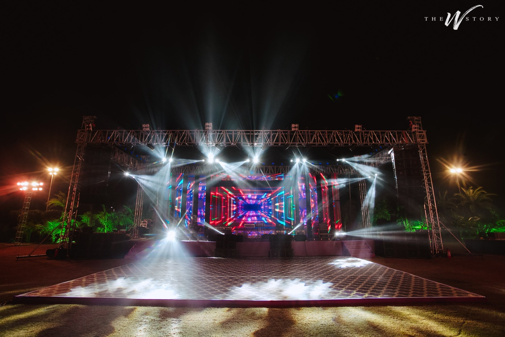 Grand stage for Sangeet