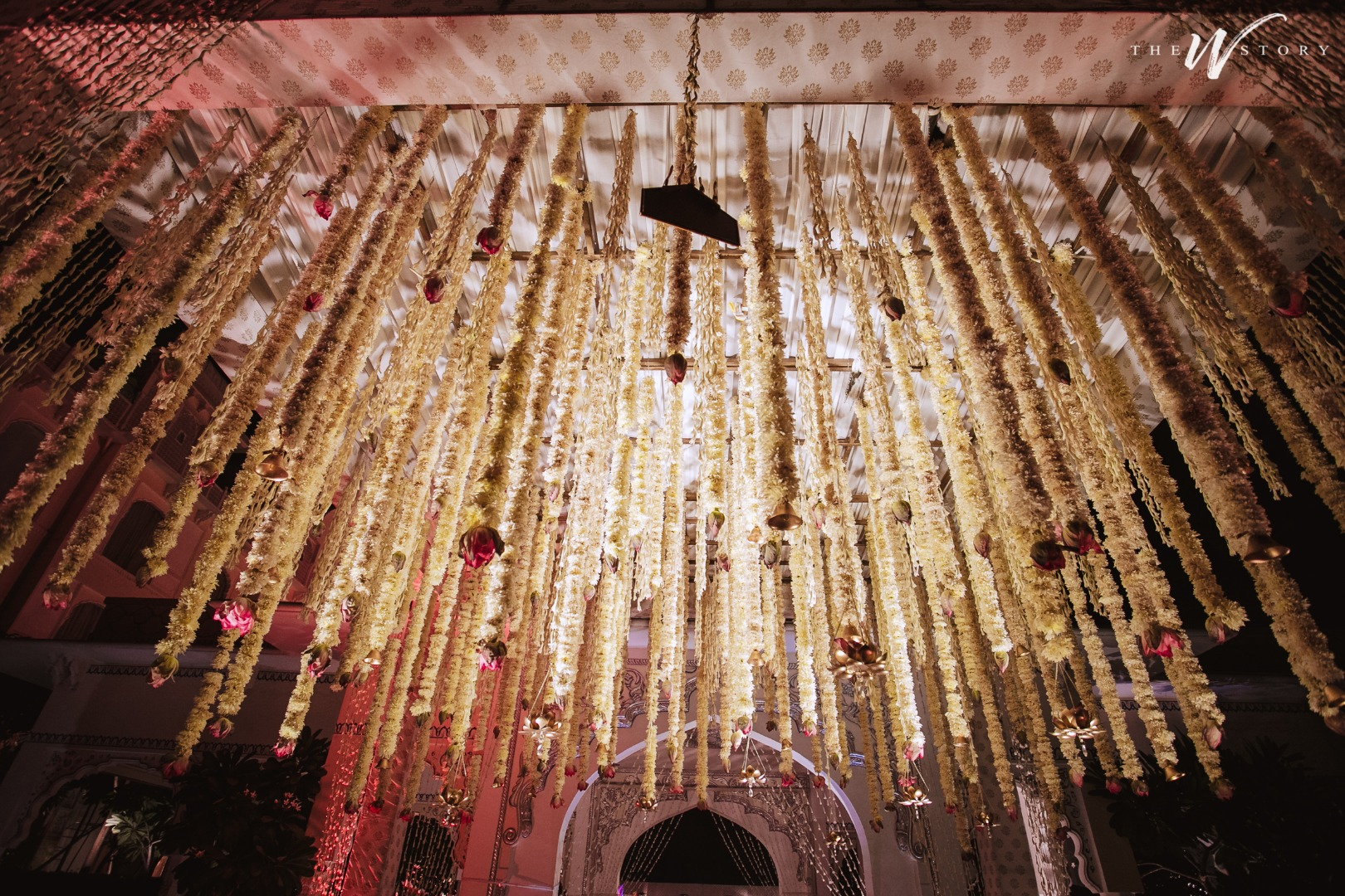 White Hanging Flowers for Wedding Decor
