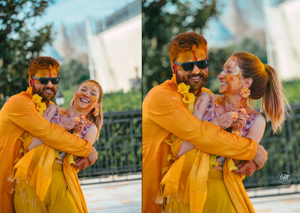 Bride & Groom Haldi Ceremony Picture