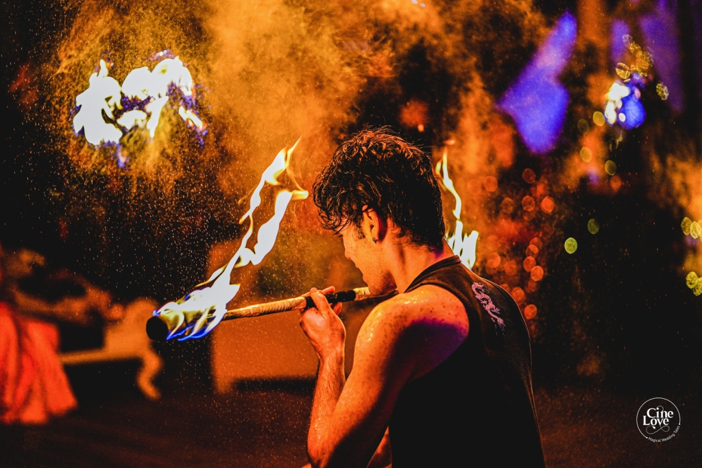 Fire Artists in Wedding