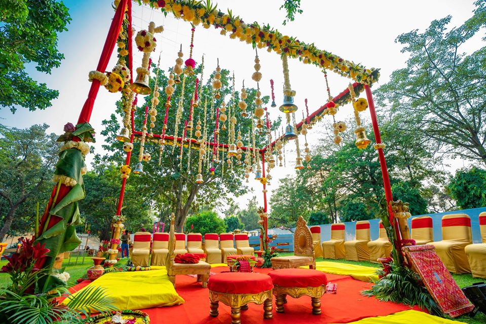 wedding night mandap decorations