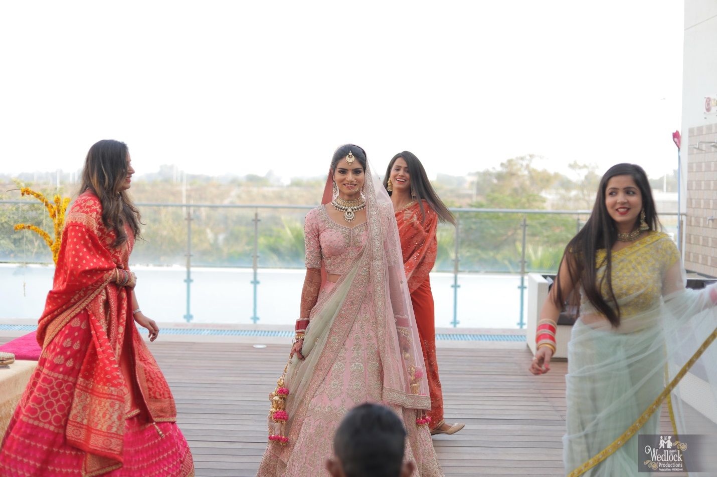 Dance performance by bride