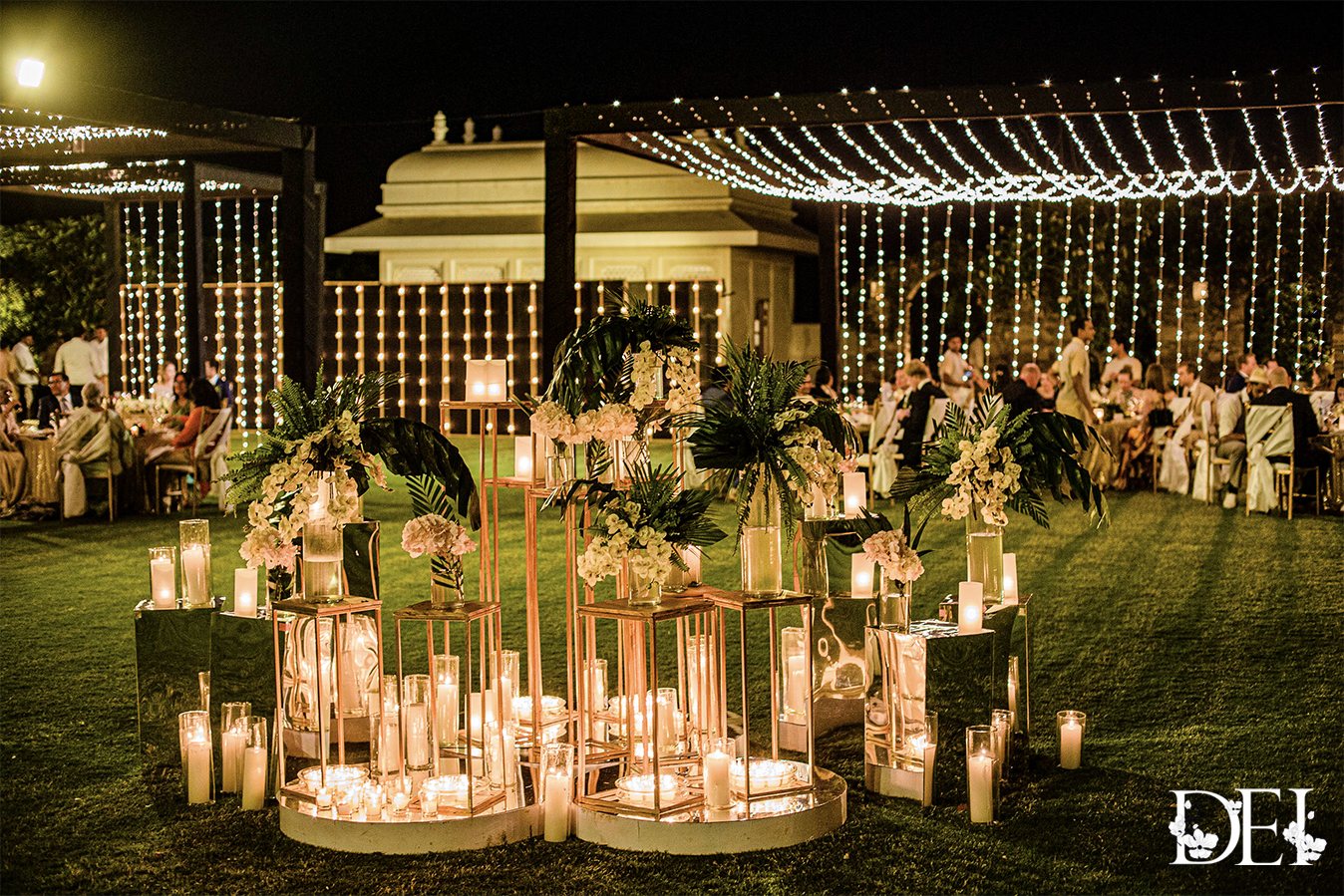 White Flowers and Candles Theme Decor