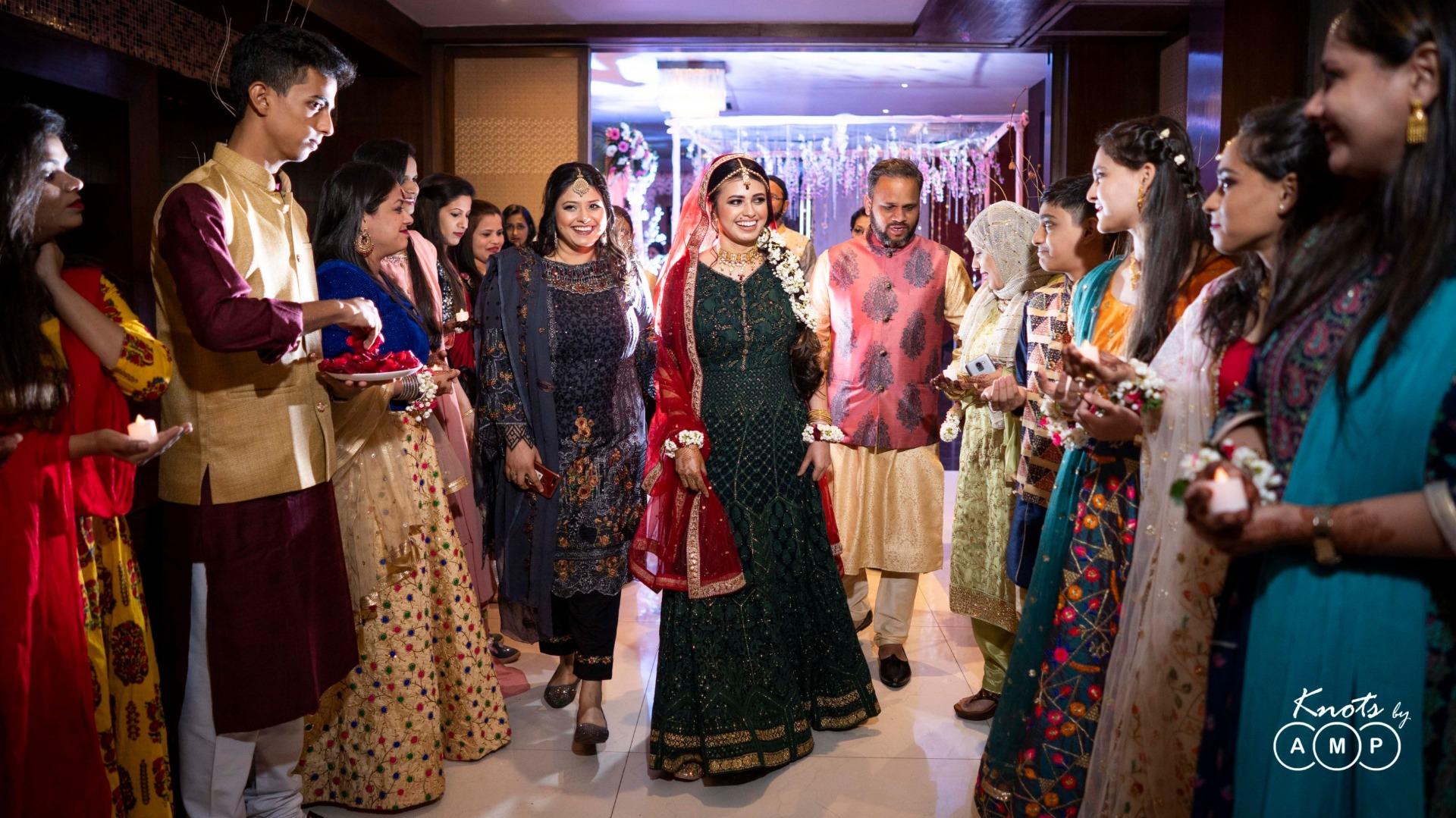 Bridal Entry in Mehendi Ceremony