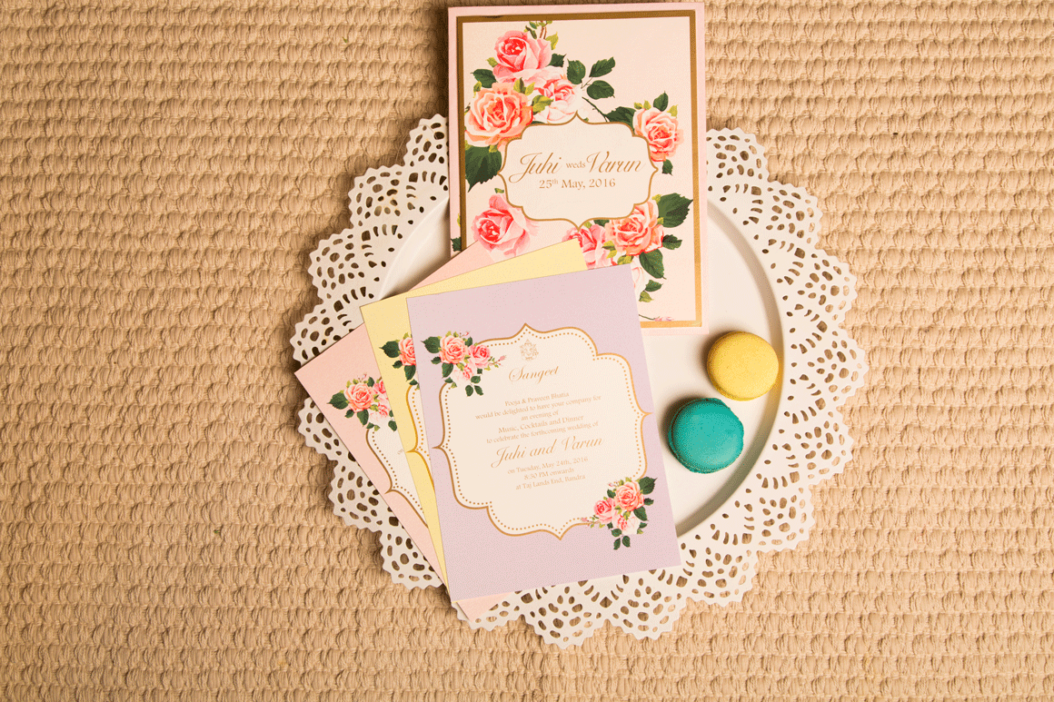 Pastel Floral wedding Invitation Cards