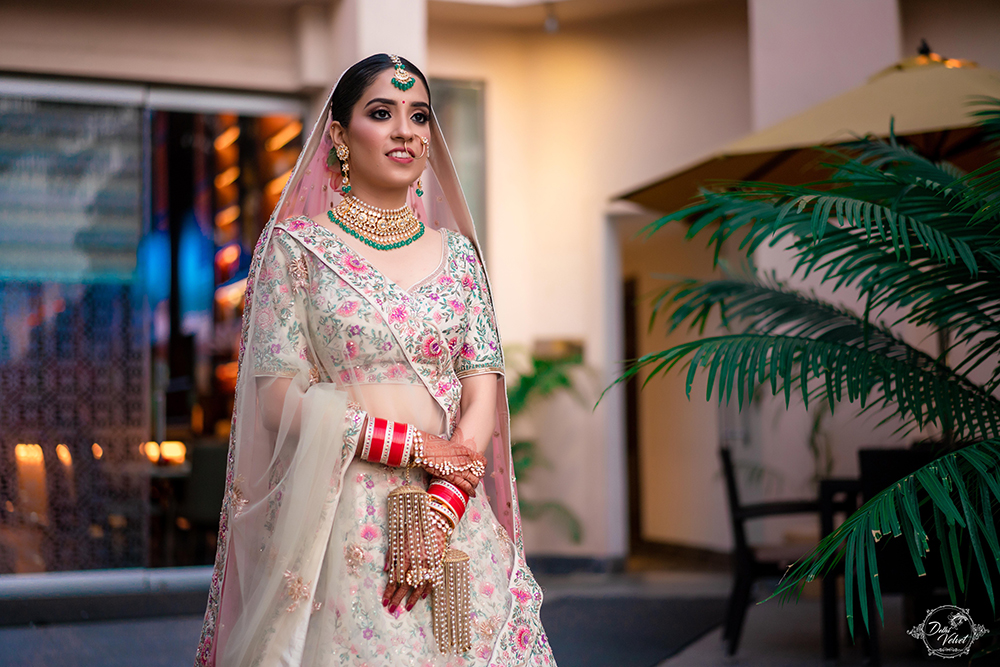 Beautiful bride in Gorgeous Lehenga and Glowing Makeup