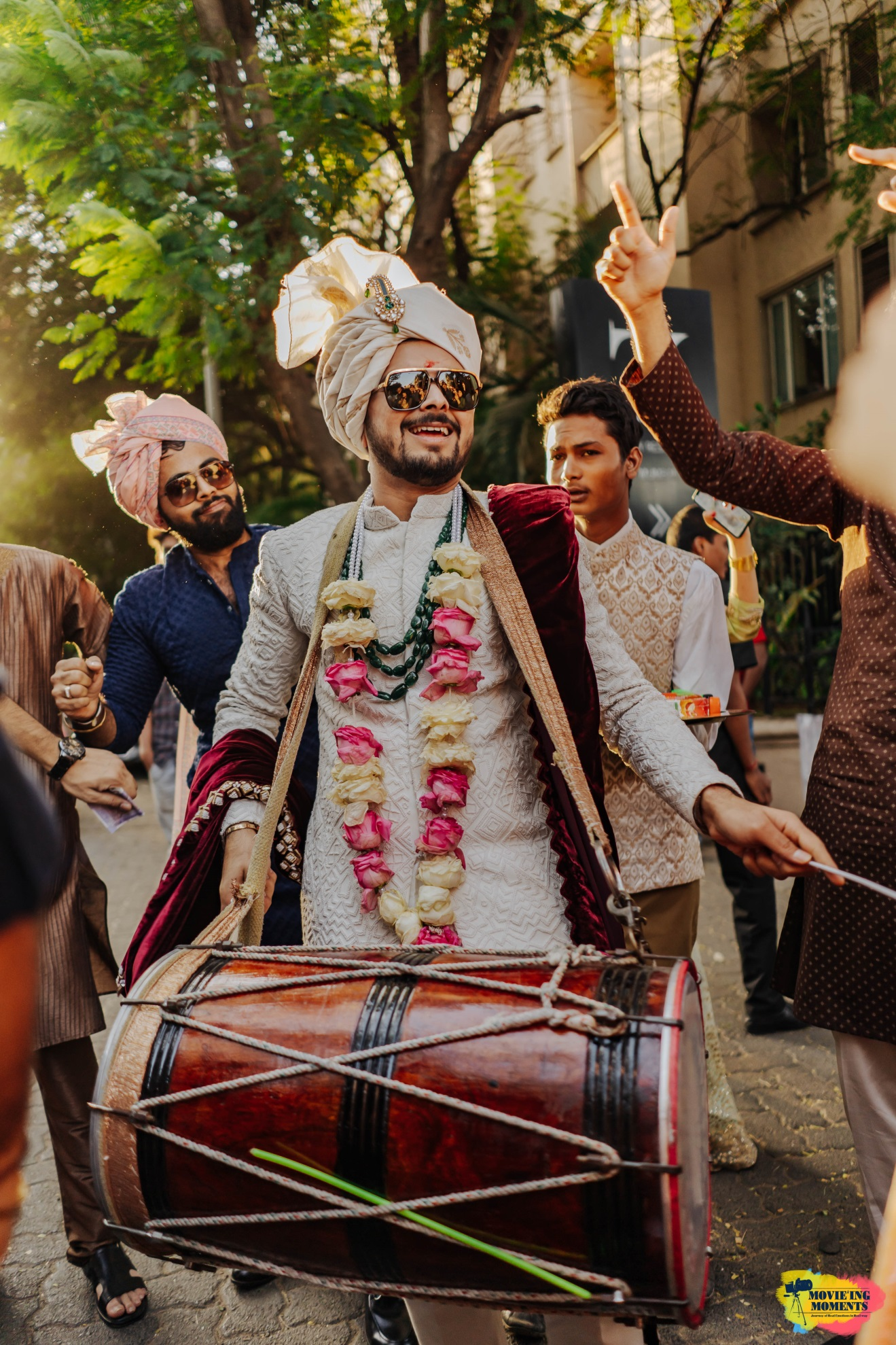 Groom entry with dhol