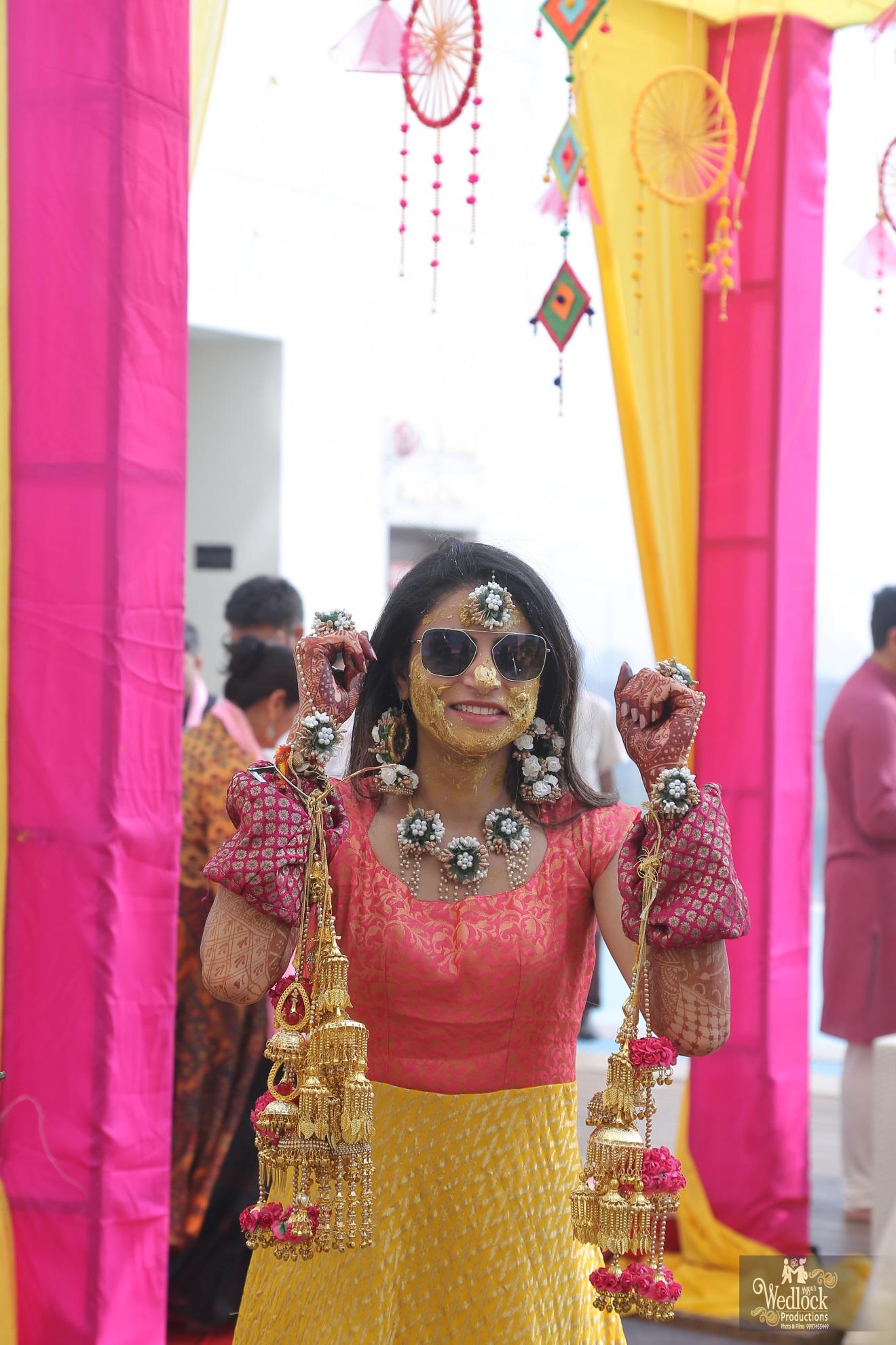 Haldi ceremony outfit