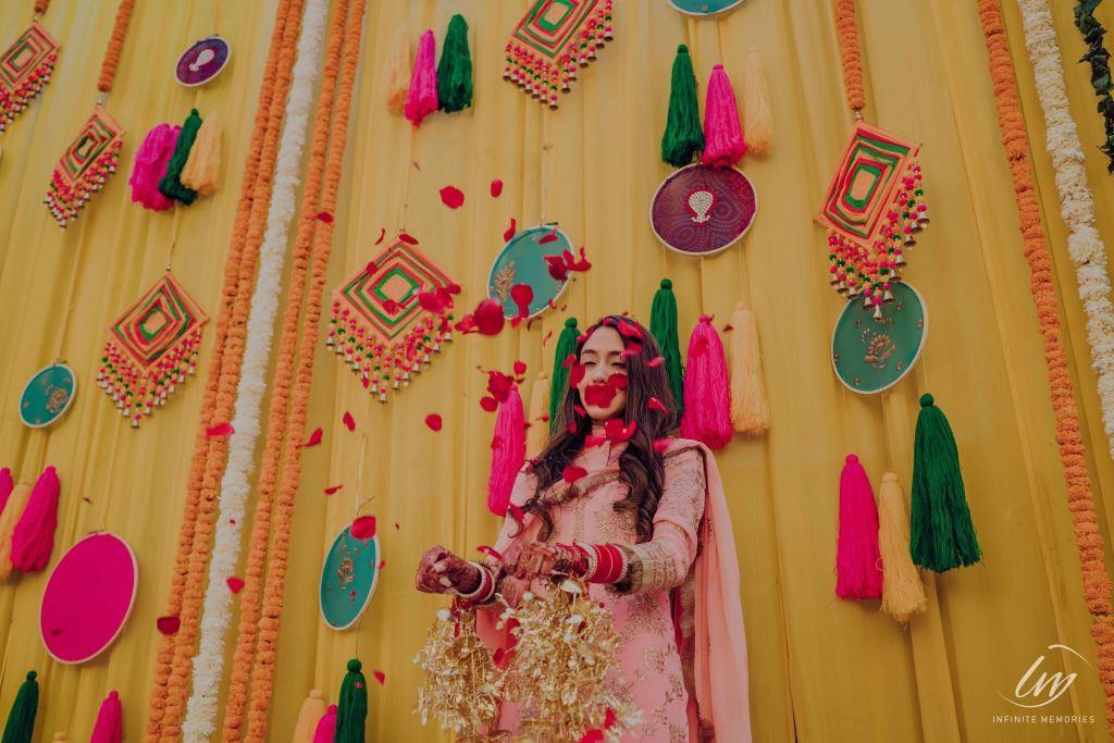 Haldi flower decoration
