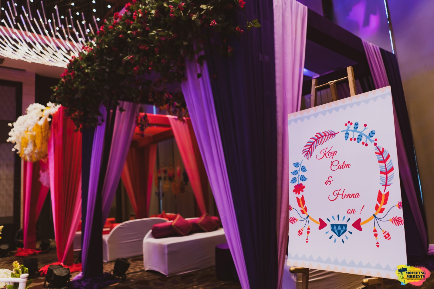 Indoor garden themed wedding decor