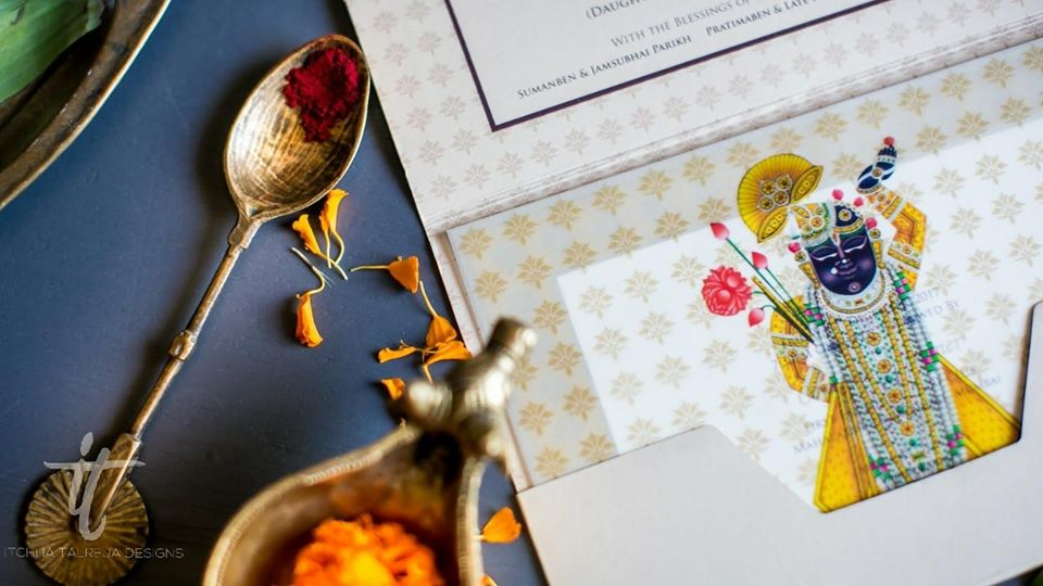 Shreenathji Theme Indian Traditional Wedding Invite