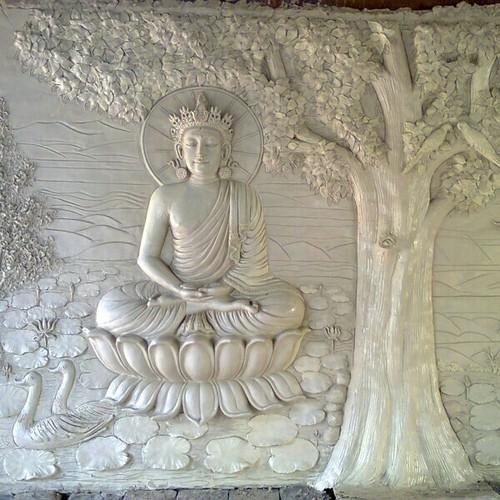 White Marble Buddha Sculpture