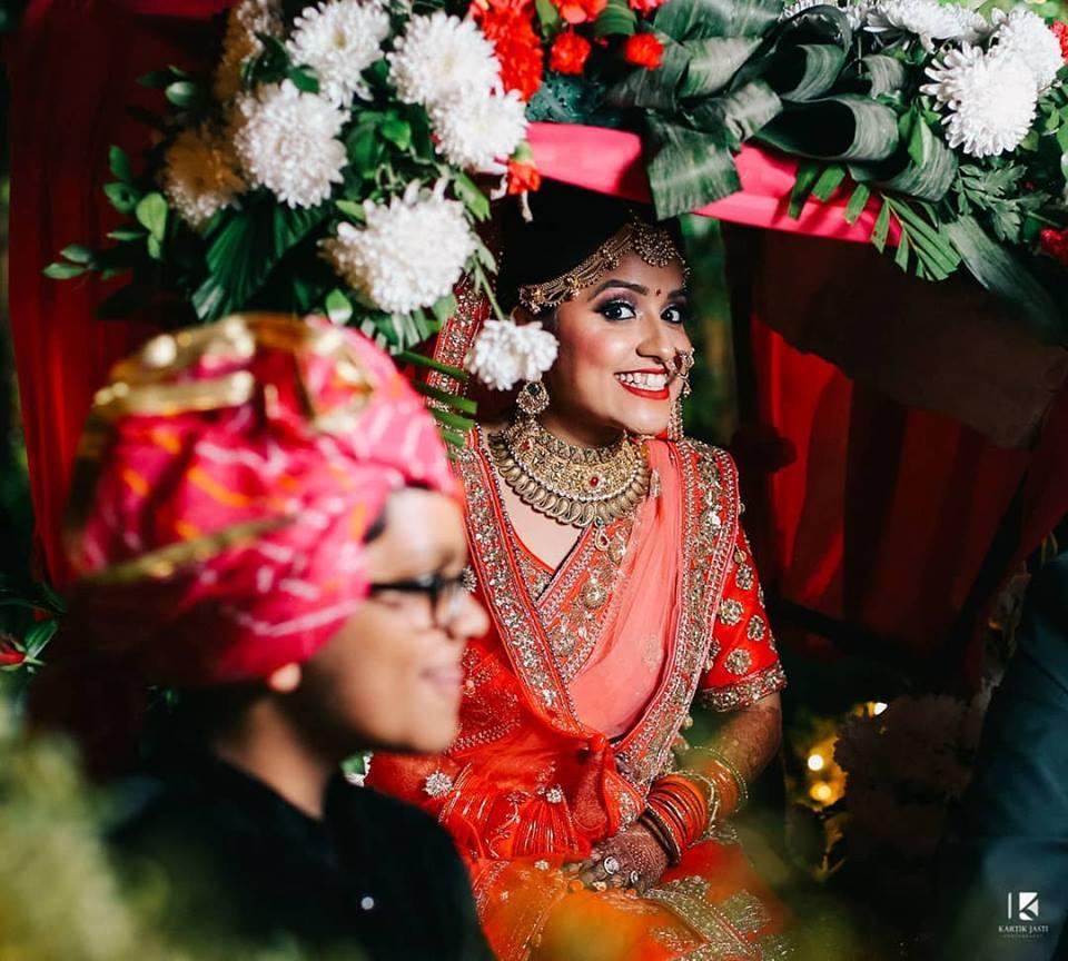 Candid Bridal Shot at her Entry