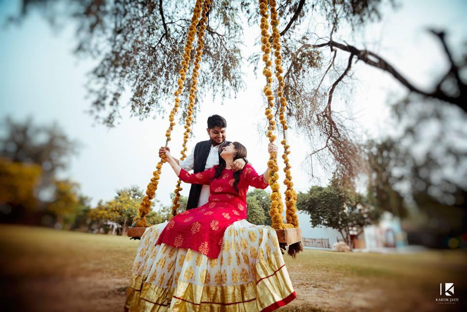 Haldi Ceremony Couple Shot