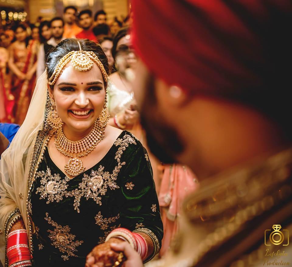Candid Shot of Sikh Bride