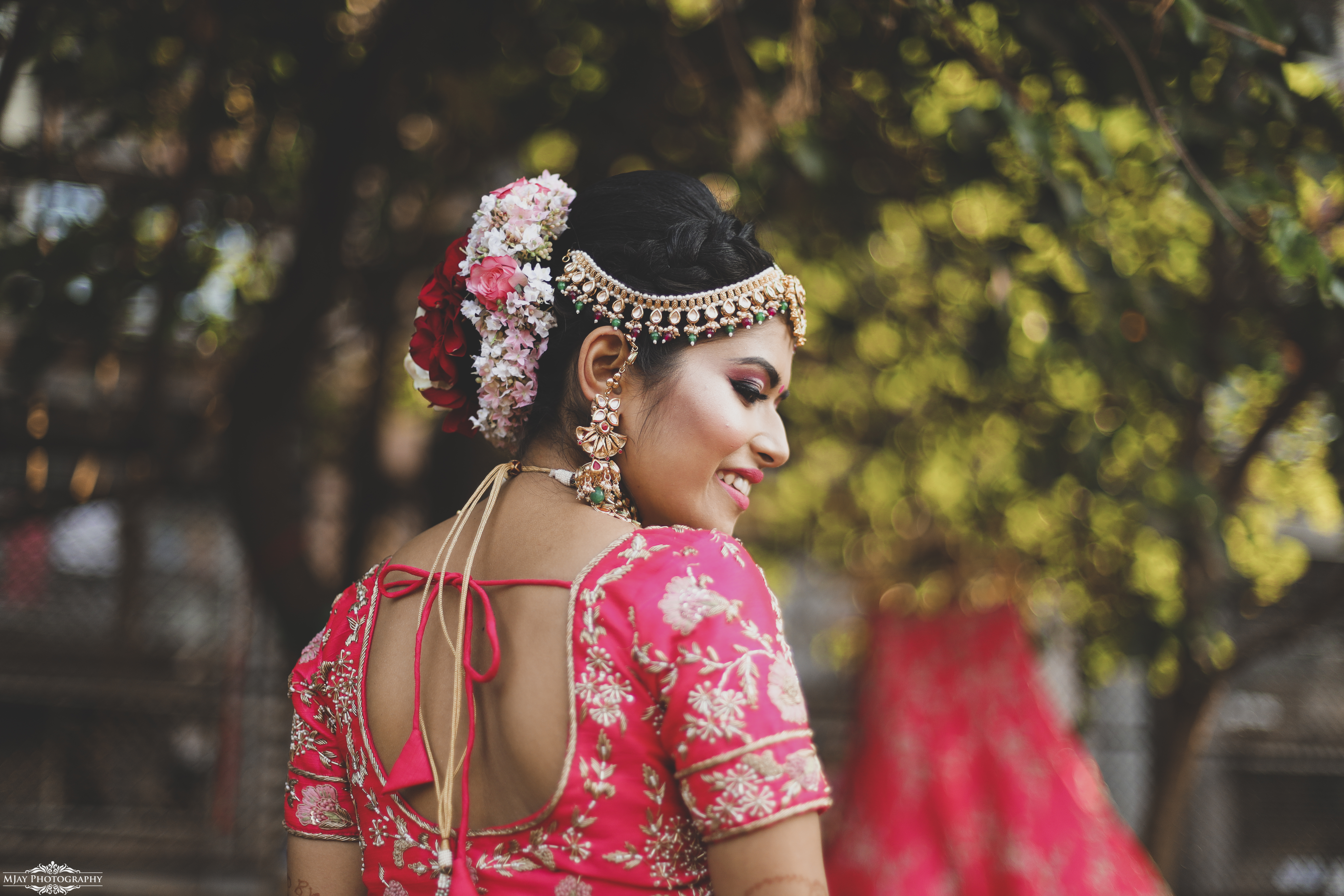 Indian Bride in Pink Bridal Lehenga