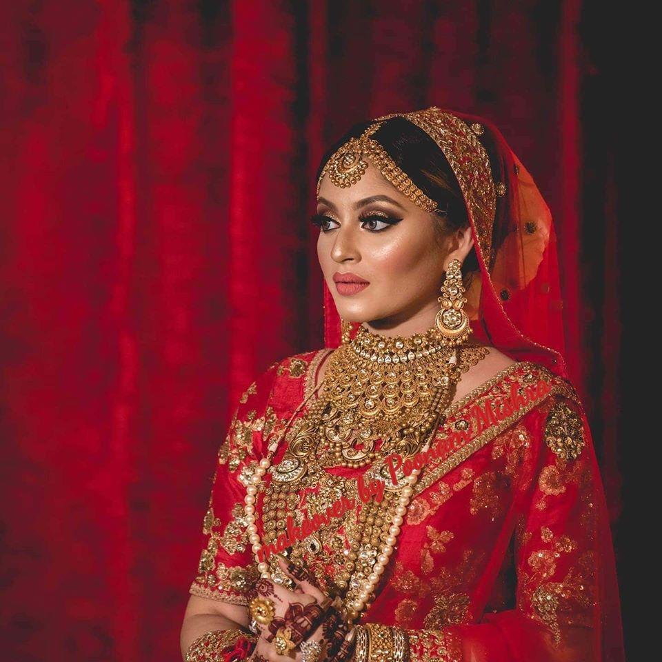 Red & Gold Bridal Makeup