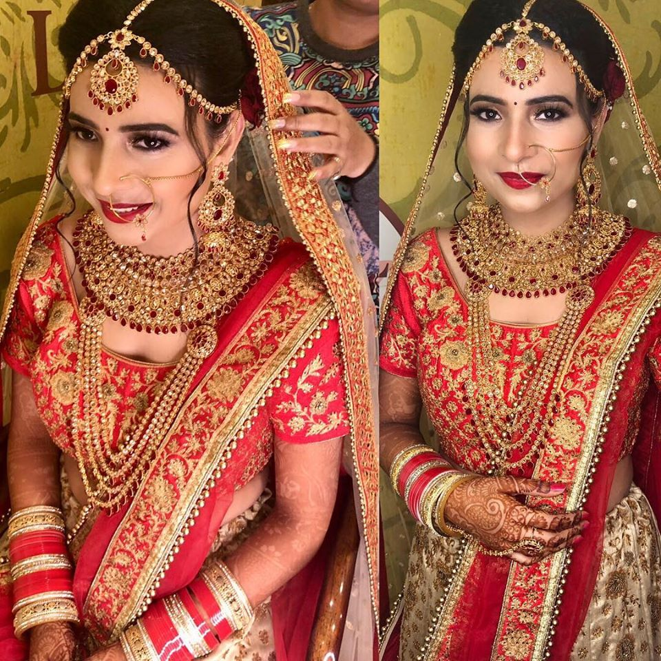 Red Bridal Look