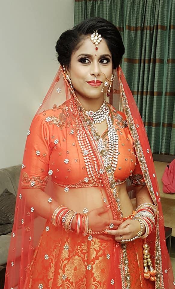Orange Bridal Lehenga