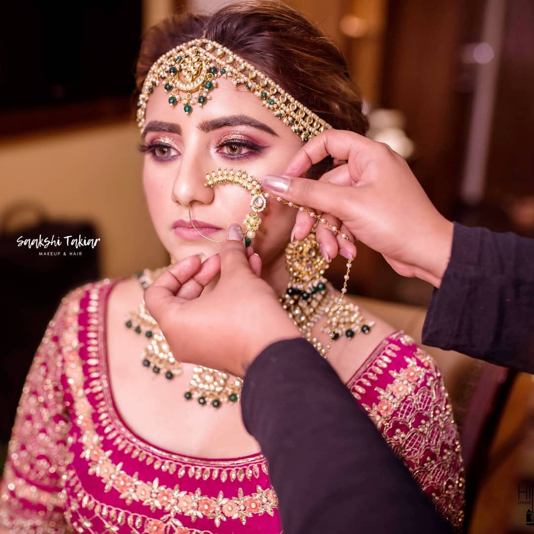Beautiful bridal makeup and style