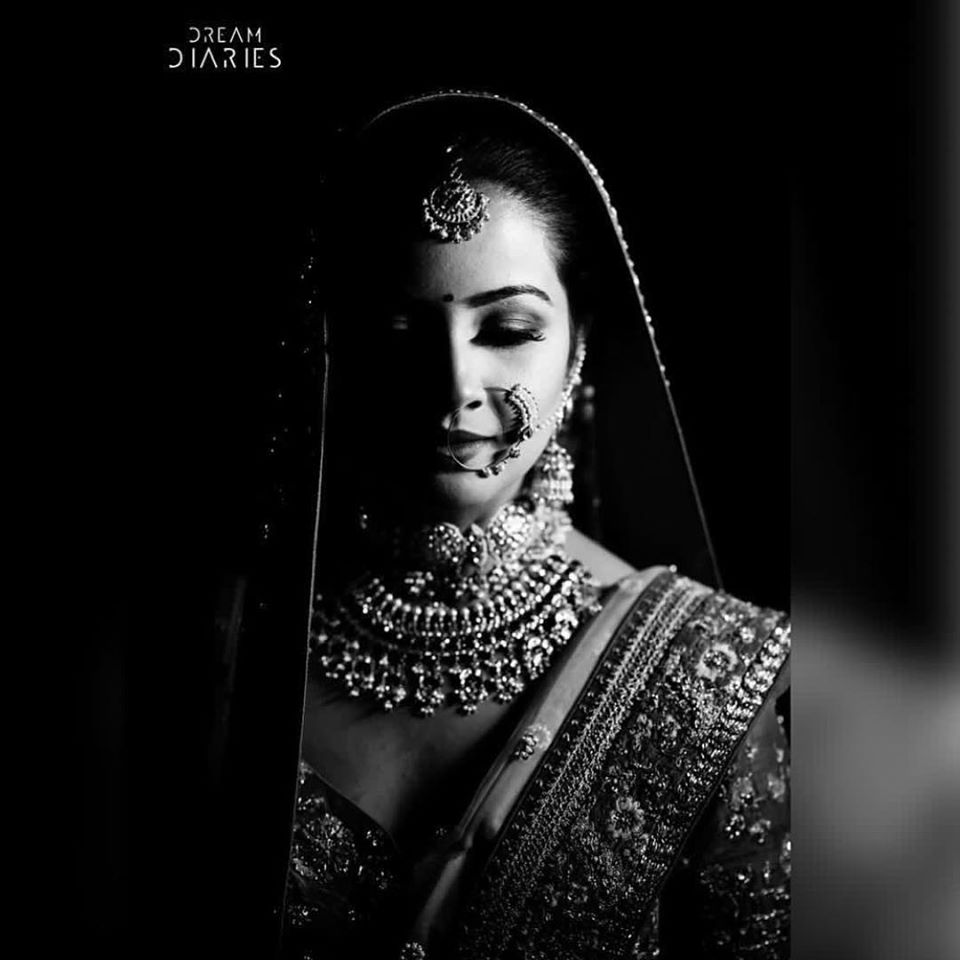 Black and White Indian Bridal Images