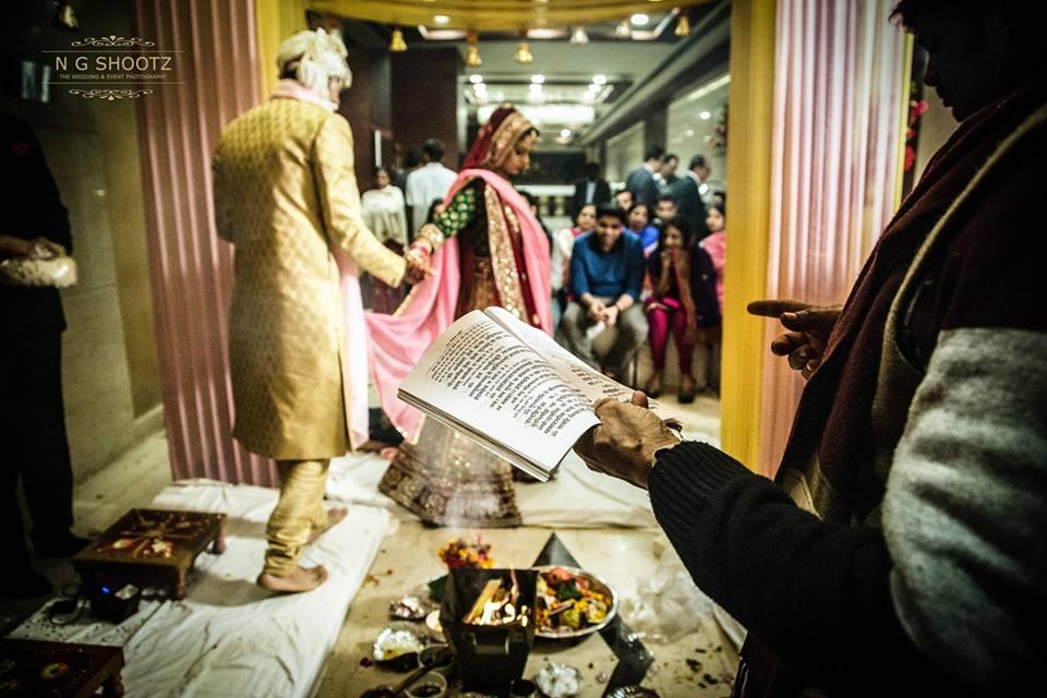 Wedding Pheras at Indian Wedding