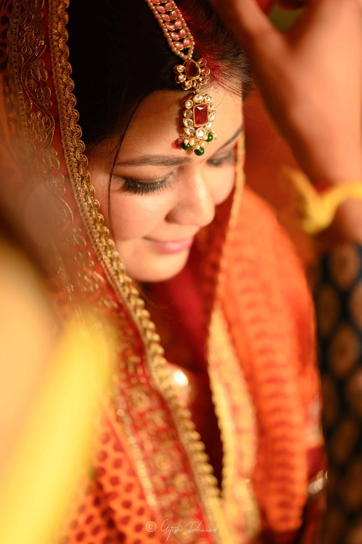 Glowing Indian Bride During Wedding