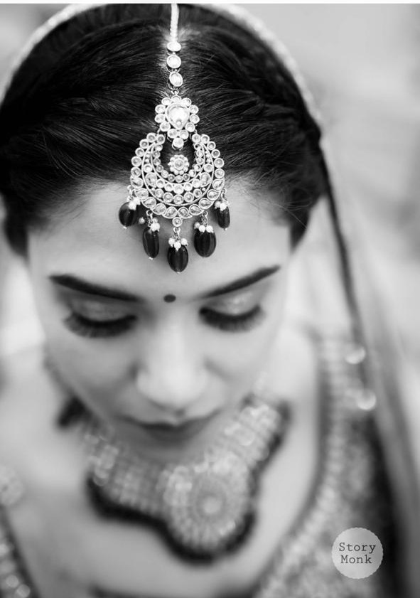 Black & White Picture of Indian Bride