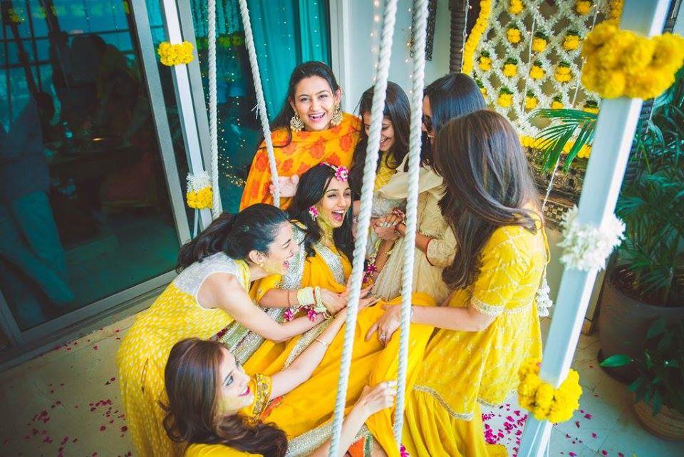 Bride & Bridesmaids Haldi Ceremony Picture
