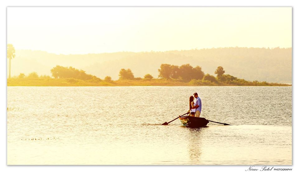 Couple Pre Wedding Photoshoot on a Boat