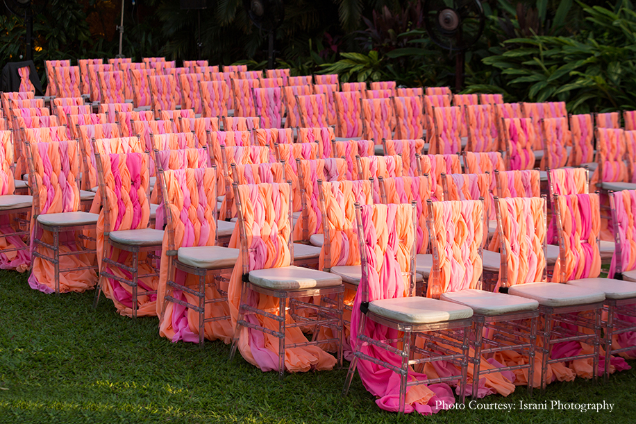Pink and orange chair decoration ideas