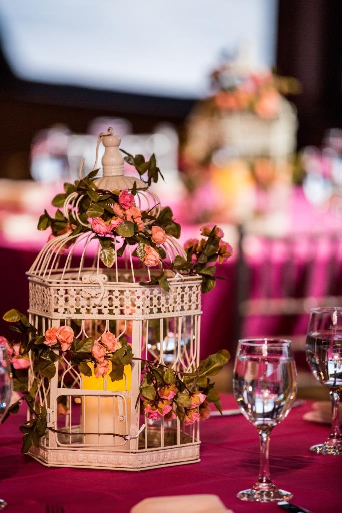 Pink theme wedding decoration