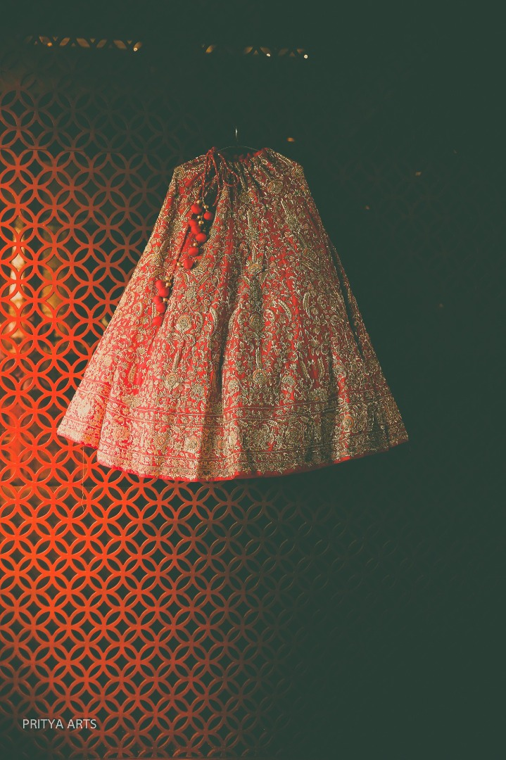 Red and Gold Heavy Bridal Lehenga