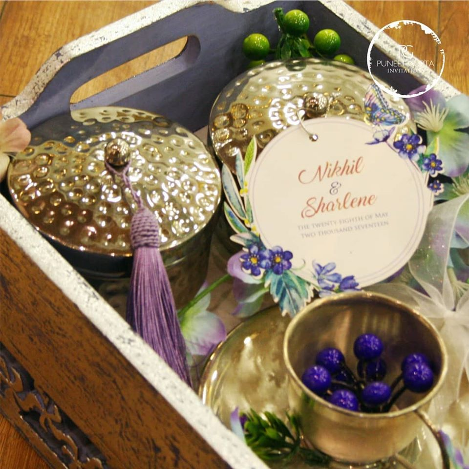 Customized Tray Style Wedding Invitation with Drawer