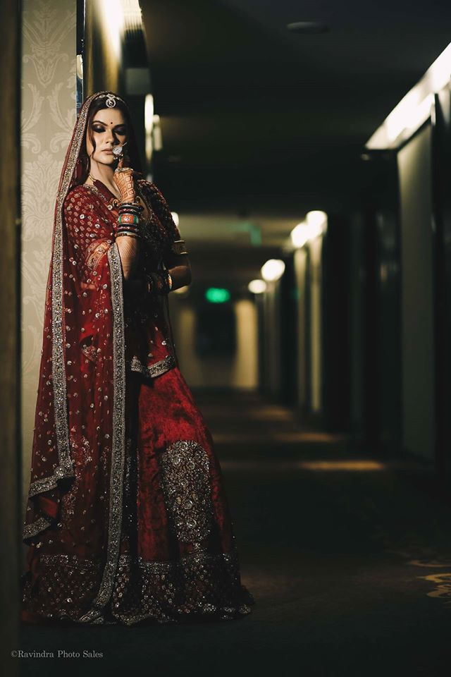 Beautiful Bride in Red