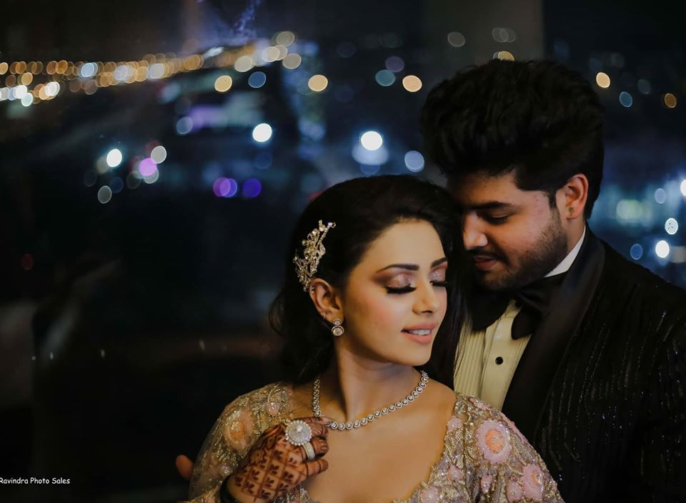 Indian Bride & Groom Engagement Ceremony Picture