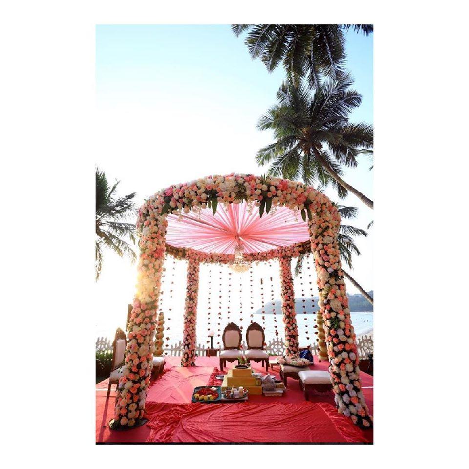 Pastel Floral Mandap Decoration Idea